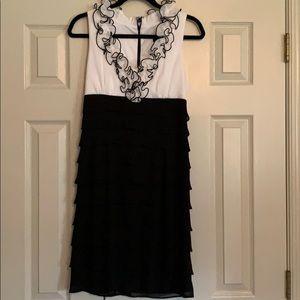 Beautiful black and white ruffle dress